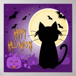 Black Cat Halloween print