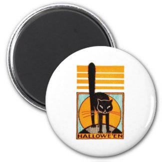 BLACK CAT HALLOWEEN PRINT MAGNET