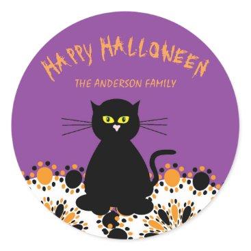 Halloween Themed Black Cat Halloween Sticker