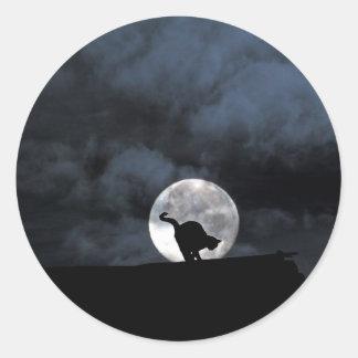 Black Cat Halloween Stickers Round Sticker