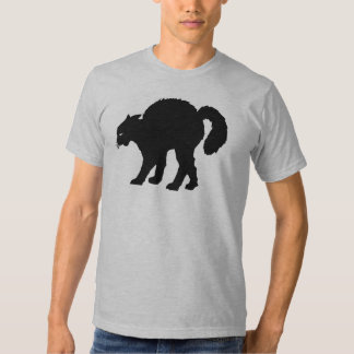 black cat halloween tee shirt
