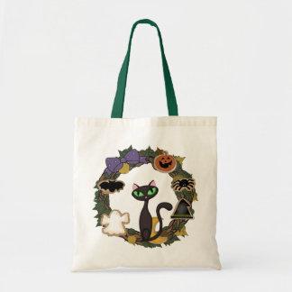 Black Cat Halloween Tote Bag