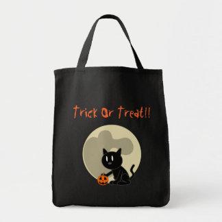 Black Cat Halloween Treat Bag