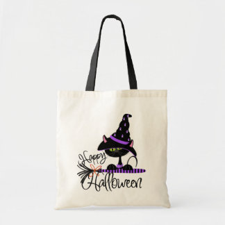 Black Cat Halloween Trick-or-Treat bag