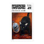 Black Cat Halloween Violano Postage