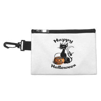 Black Cat Happy Halloween Accessory Bag