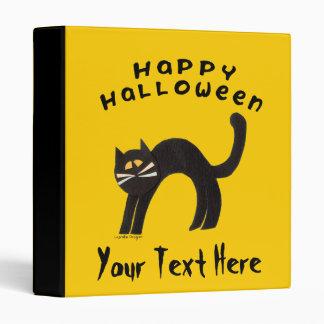 Black Cat Happy Halloween Binder