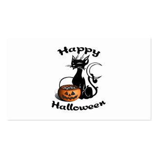 Black Cat Happy Halloween Business Card