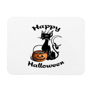 Black Cat Happy Halloween Magnet