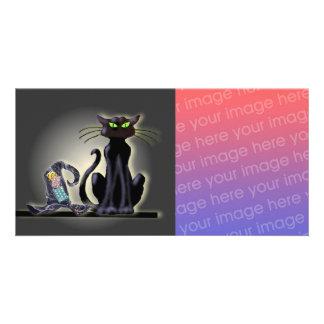 BLACK CAT & HAT by SHARON SHARPE Card