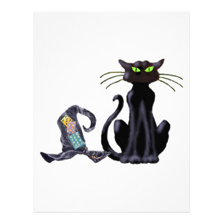 BLACK CAT & HAT by SHARON SHARPE Personalized Letterhead