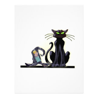 BLACK CAT & HAT by SHARON SHARPE Customized Letterhead