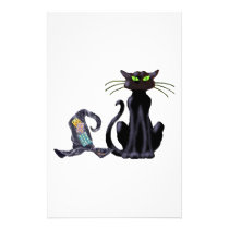 BLACK CAT & HAT by SHARON SHARPE Stationery