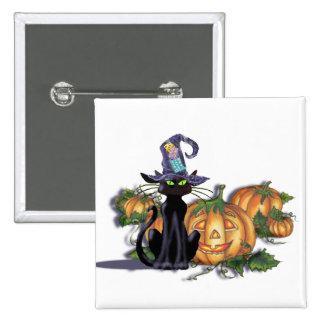 BLACK CAT HAT JACK by SHARON SHARPE Pins