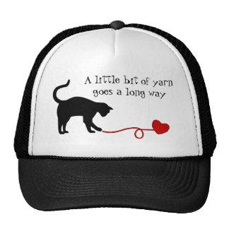 Black Cat & Heart Shaped Yarn (Red) Trucker Hat