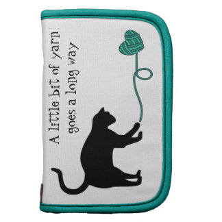 Black Cat & Heart Shaped Yarn (Turquoise) Planners