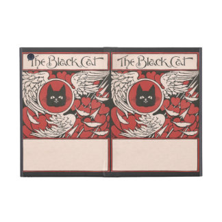 Black Cat, Hearts and Wings Vintage iPad Mini Cover