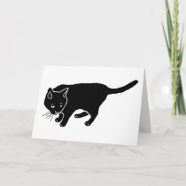 Black Cat Holiday Card