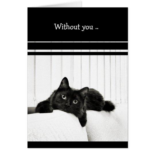 Black Cat I Miss You card