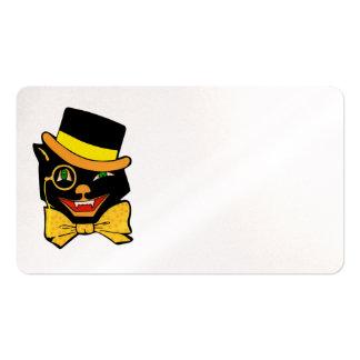 Black Cat in a Top Hat Business Card