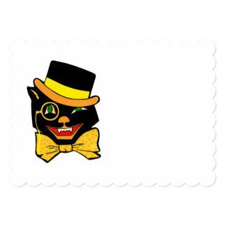 Black Cat in a Top Hat Card