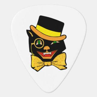 Black Cat in a Top Hat Guitar Pick