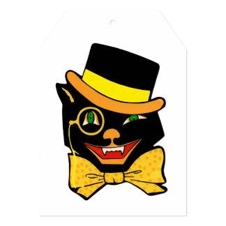 Black Cat in a Top Hat 5x7 Paper Invitation Card