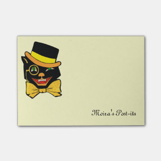 Black Cat in a Top Hat Post-it® Notes