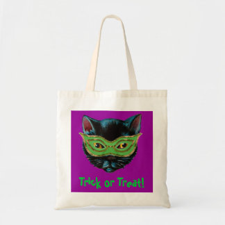 Black Cat in Mask Tote Bag