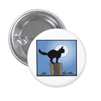 Black Cat In Moonlight Pinback Button