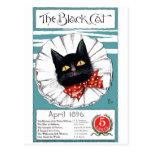 Black Cat in Red Polka Dot Tie Postcard