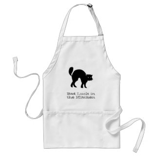 Black Cat in the Kitchen Apron