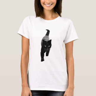 Black Cat in the Snow T-Shirt