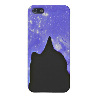 Black cat in the Universe Cover For iPhone SE/5/5s