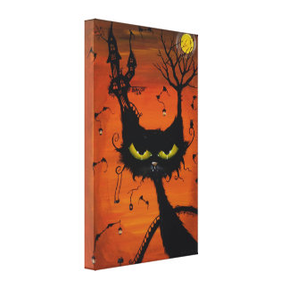 Black Cat Inn wrapped canvas