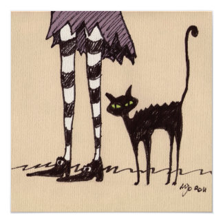 Black Cat Invitation