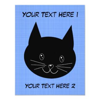 Black Cat 4.25x5.5 Paper Invitation Card