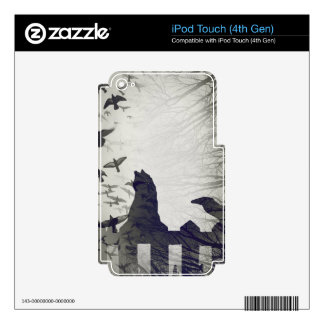 Black Cat iPad Touch 4th Gen Skin iPod Touch 4G Decal