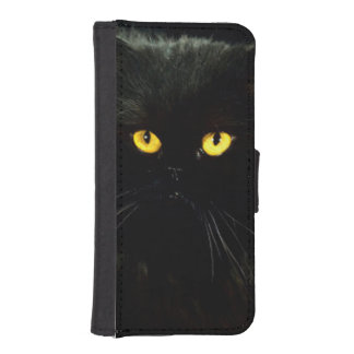 Black Cat iPhone SE/5/5s Wallet