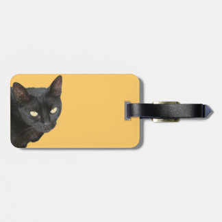 Black Cat Isolated Travel Bag Tag