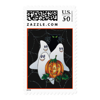 BLACK CAT, JACK & 3 BOOS by SHARON SHARPE Postage