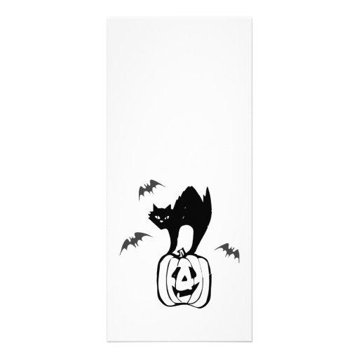 Black Cat Jack-o Bats Rack Cards