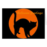 Black Cat Jack o Lantern Card