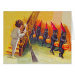 Black Cat Jack O Lantern Pumpkin Broom Card