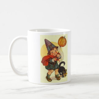 Black Cat Jack O Lantern Pumpkin Witch Moon Coffee Mug