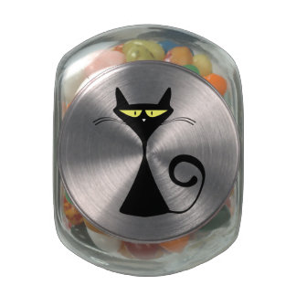 Black Cat Jelly Belly Candy Jars