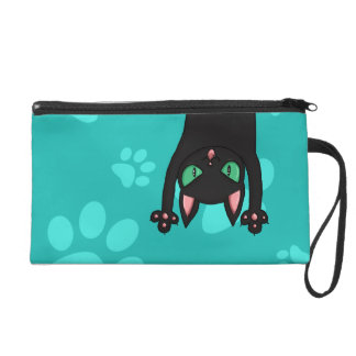 Black Cat jumping out Wristlet