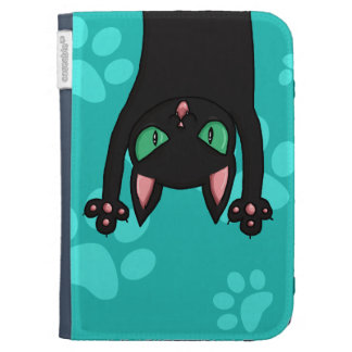 Black Cat jumping out Cases For Kindle