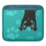 Black Cat jumping out iPad Sleeves