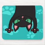 Black Cat jumping out Mousepad